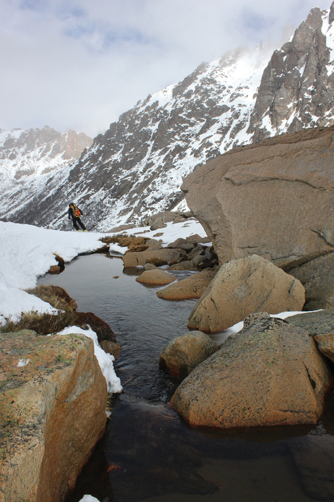 Spring in Argentina releases frozen streams in the Patagonian Andes.