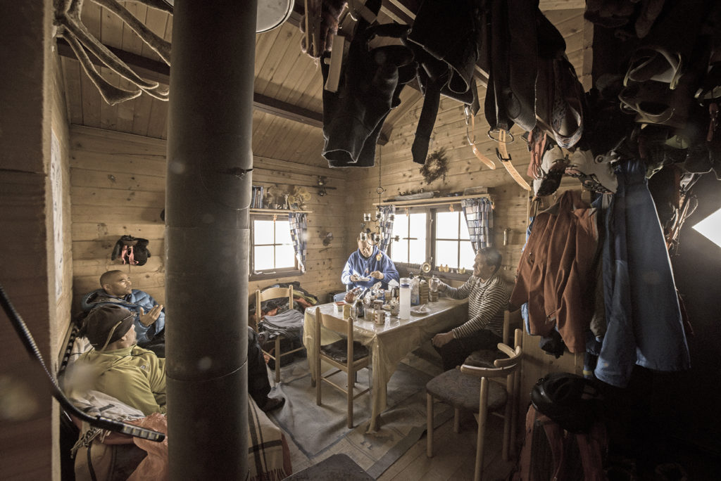 Life in the hut. Photo Keoki Flagg