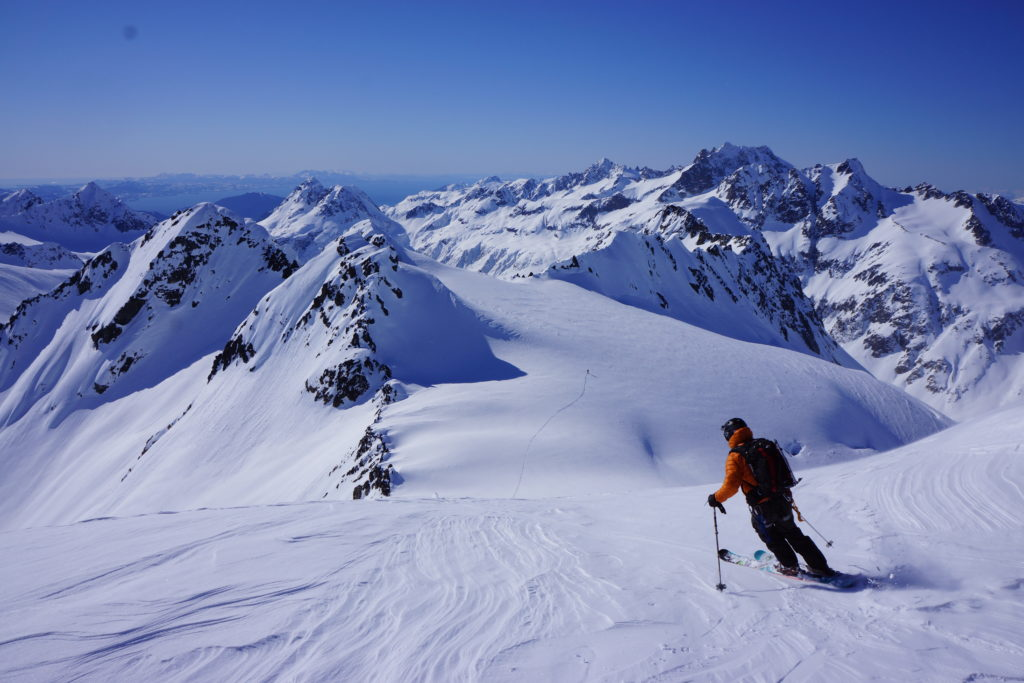 Skiing the west side of Sluffhead offers views to the ocean, and a lifetime worth of ski descents.