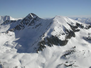 The Pfiefferhorn in Little Cottonwood Canyon.  This area is miles from the shooting zone, but is now closed.