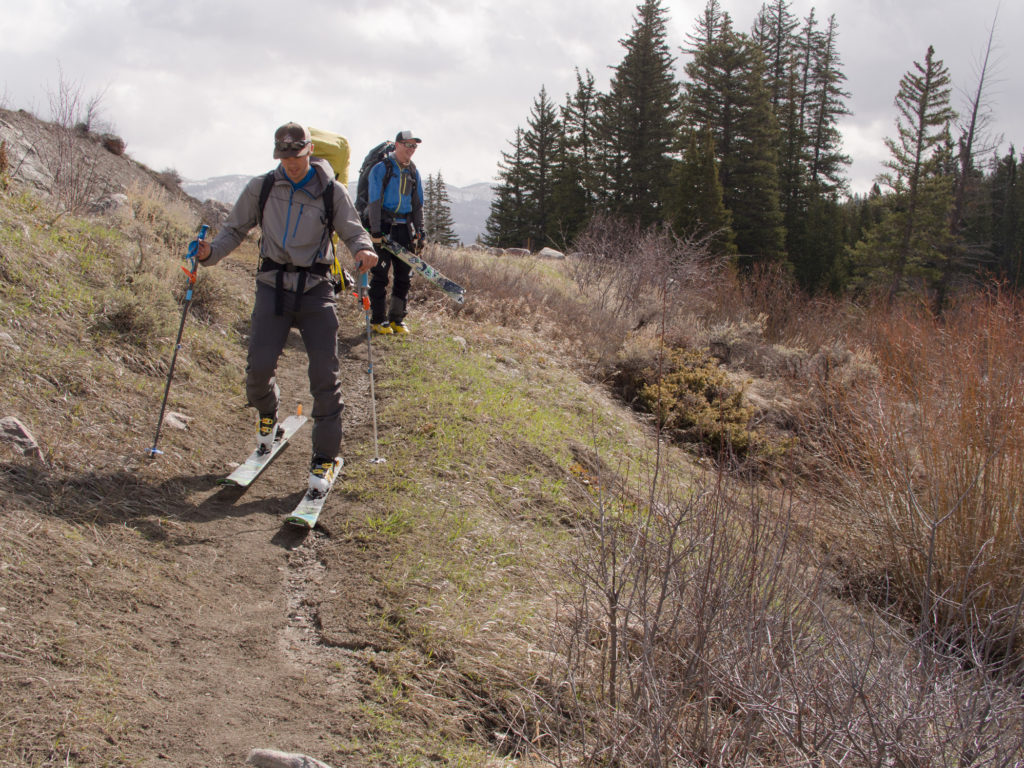 Ain't nobody got time for that.  Sean skips transitions on Day 1 near Cataract Lake.