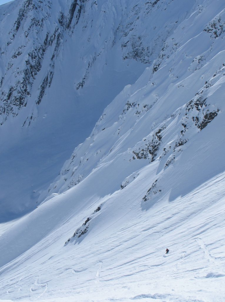 Ray Apy enjoys the Contest Line, Mt. Billy Mitchell