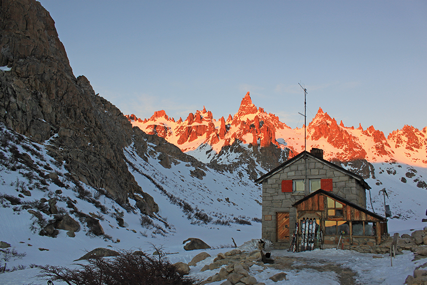 Iconic. Refugio Frey is perhaps the most famous and most photogr