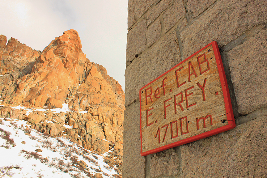 Refugio Frey sits at an elevation of 1,700 meters, or 5,577 feet at Laguna Toncek in Nahuel Huapi National Park.