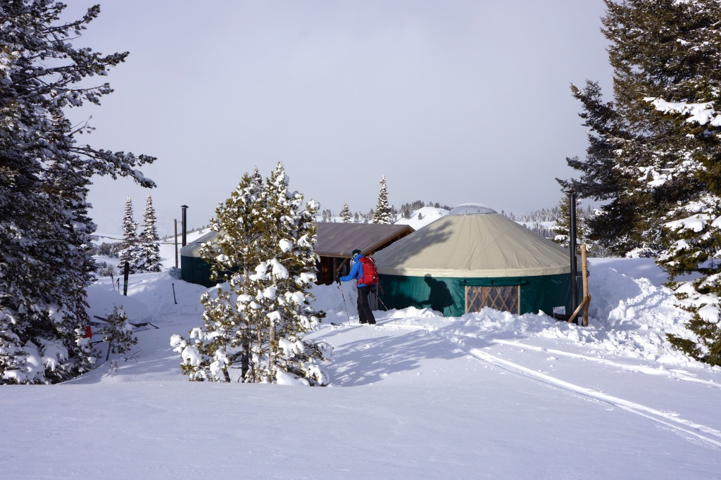 The rebuilt Coyote Yurt complex.