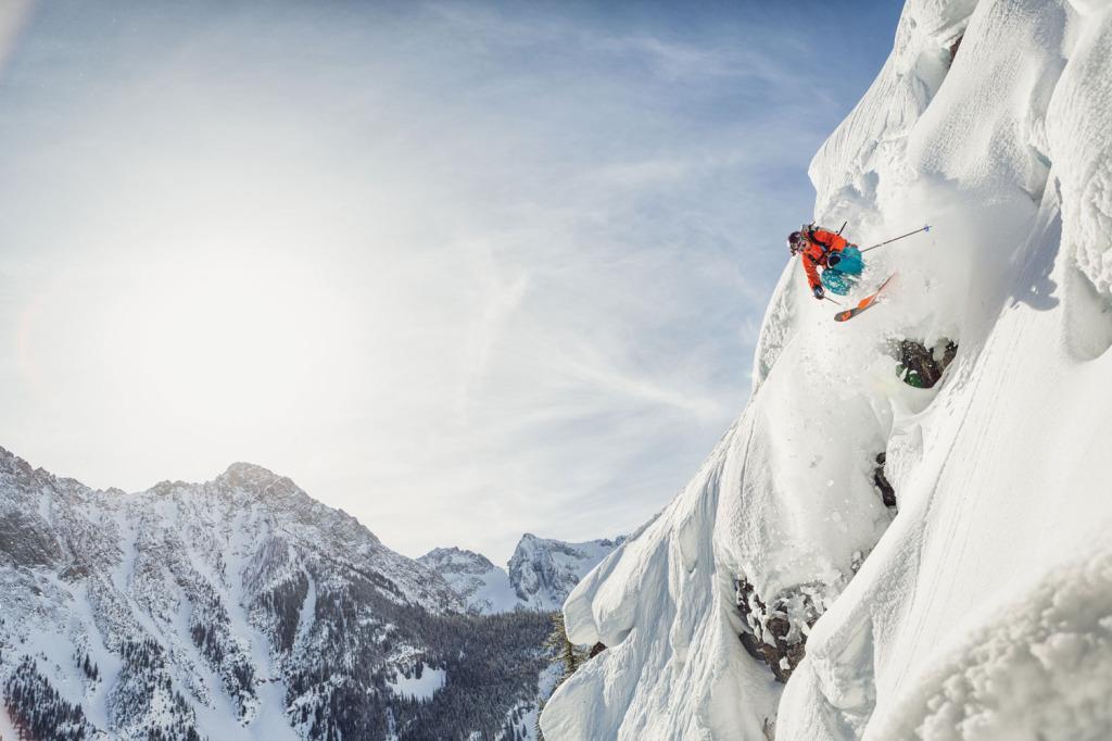 Noah Howell finds a little deep on a little steep.
