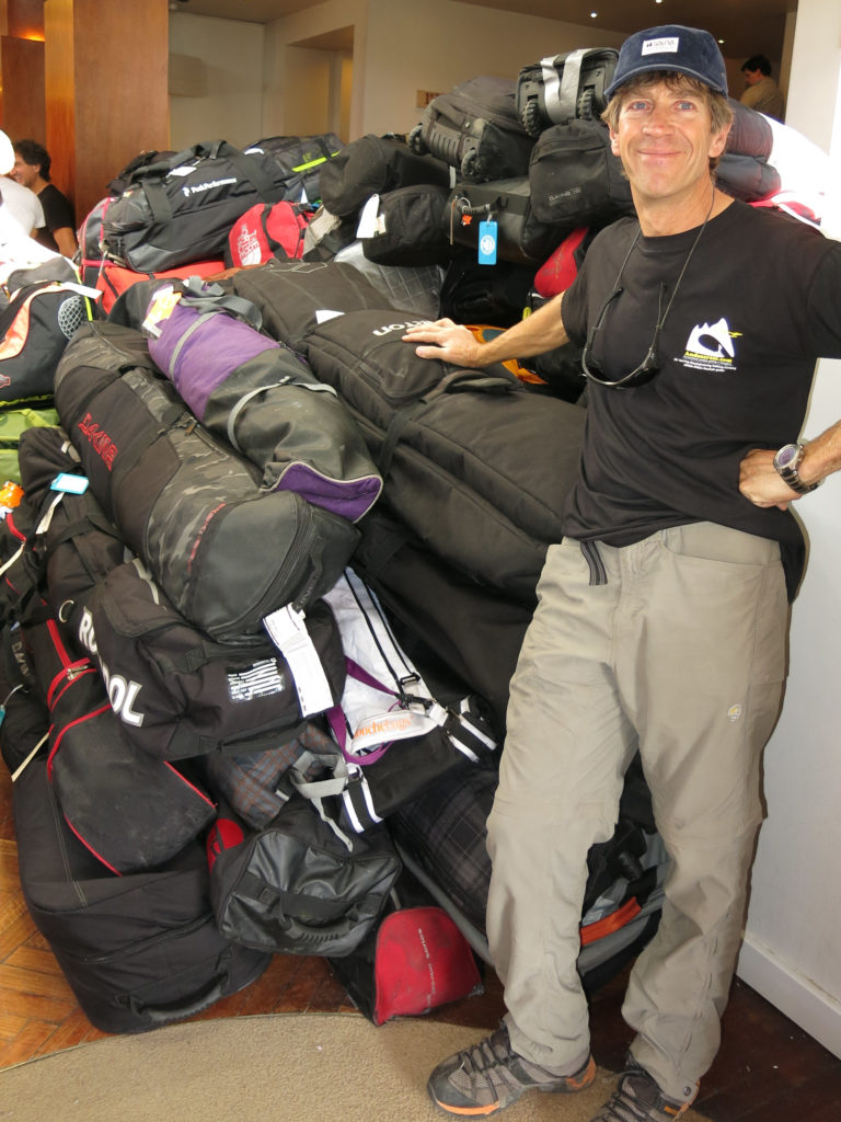 With 125 Skiers aboard, the gear pile for the Ski Cruise is a mountain itself.