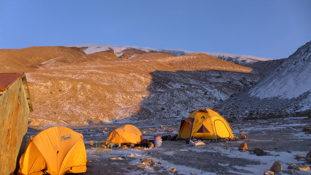 Base camp at Mustagh Atta