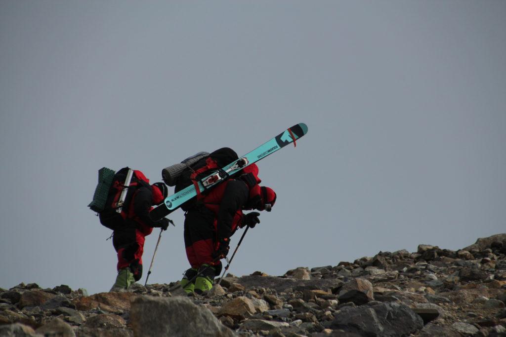 Battling the relentless winds on Mustagh Atta, 3rd trip. Photo Steve Marolt