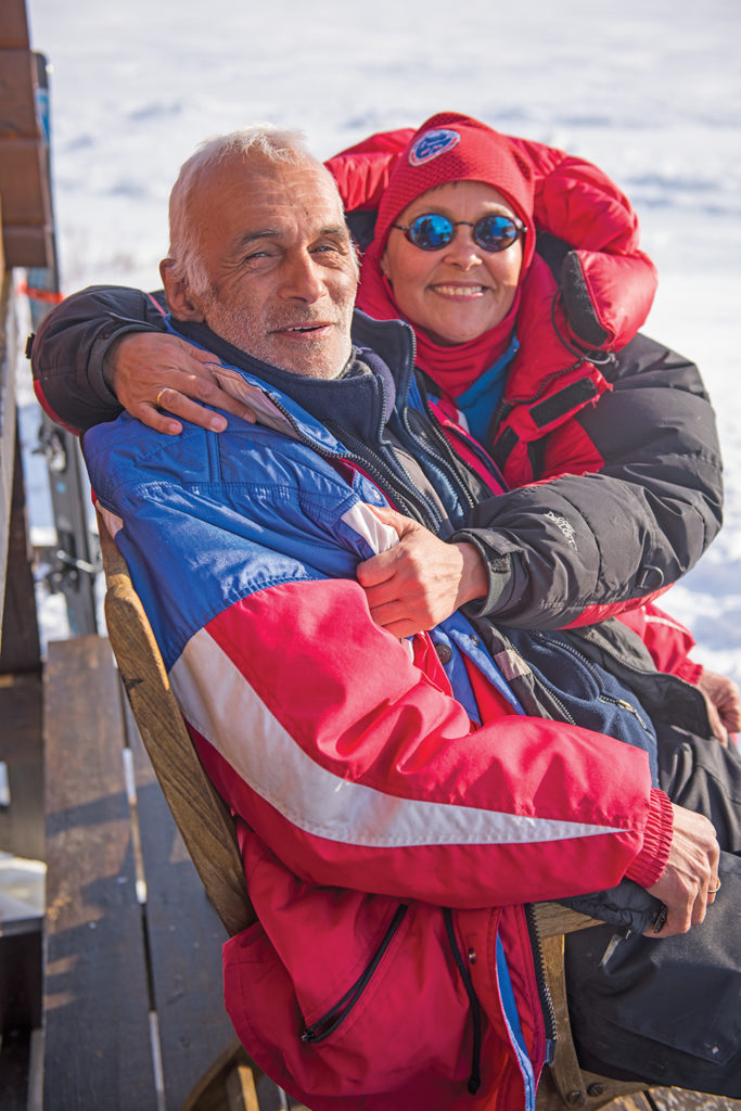 Lasseraq and Ane-Sofie Skift, our gracious hosts. Photo Keoki Flagg