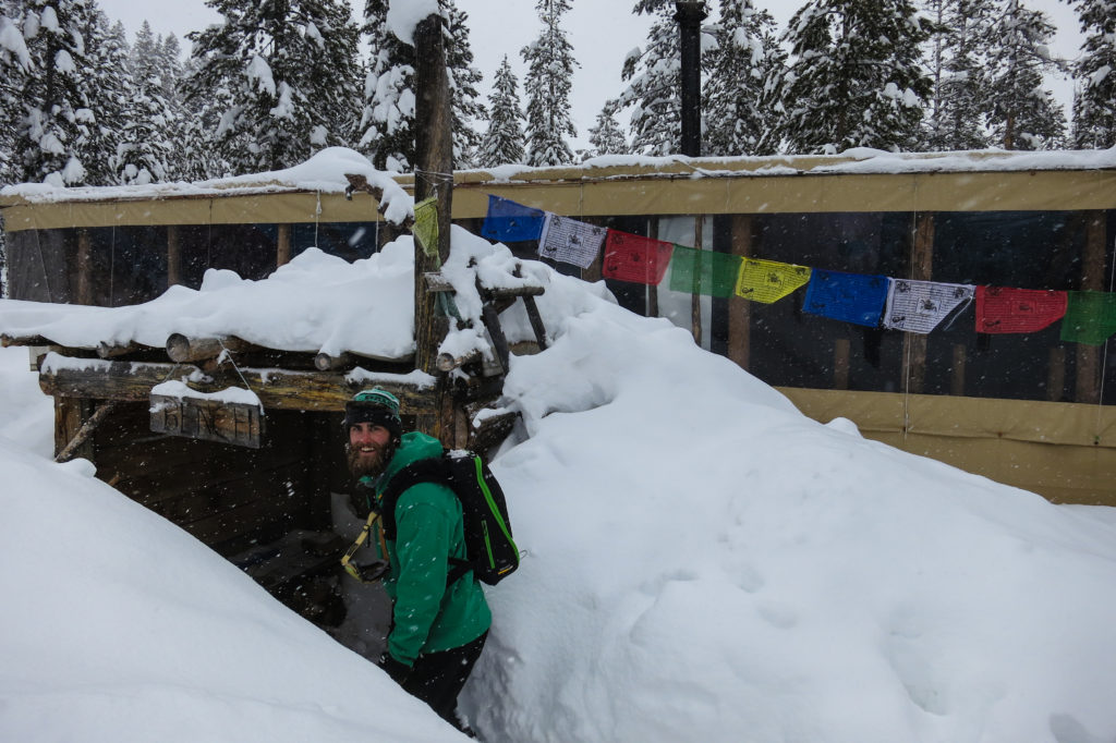 Arriving at the freshly buried Bench Hut is a wonderful thing