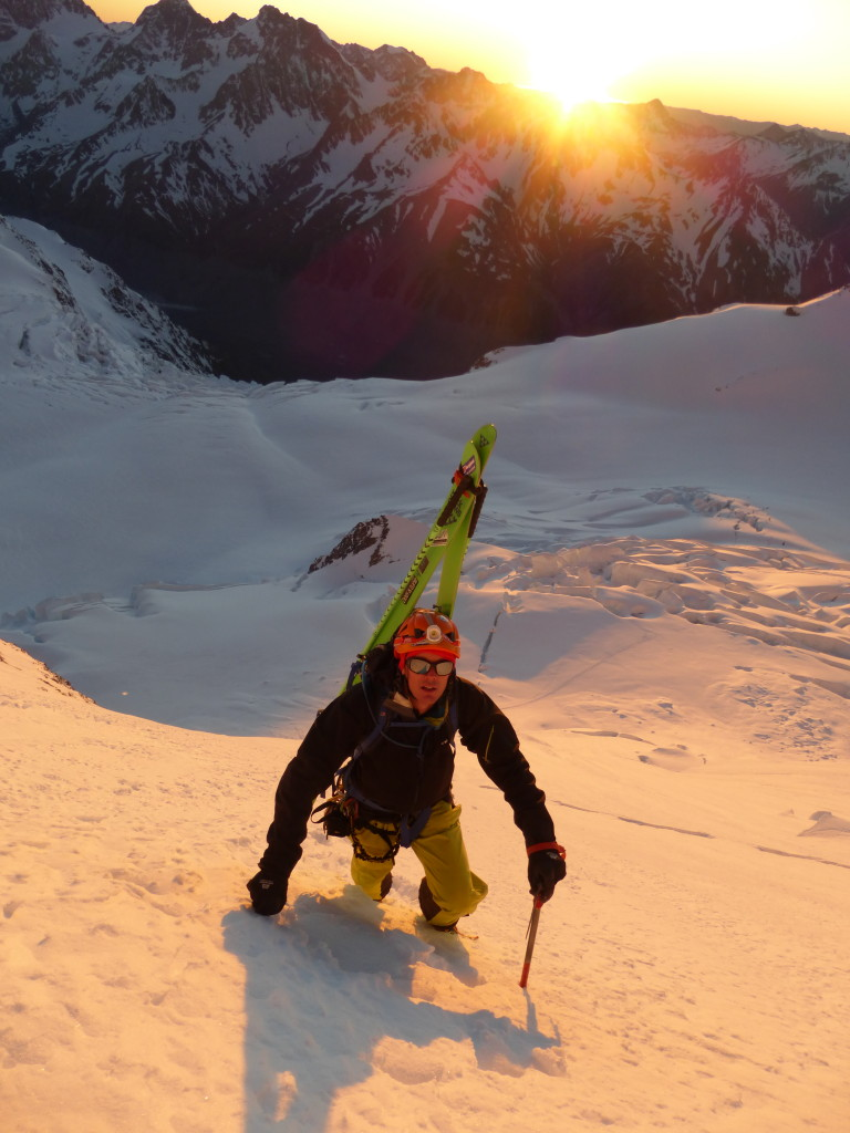 On the east face of Aoraki/Mt. Cook