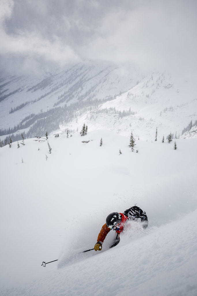 Ski by brail or by faceshot? Mark Longfield prefers the latter.