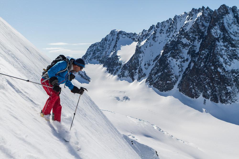 Andrew McLean skiing, Alaska