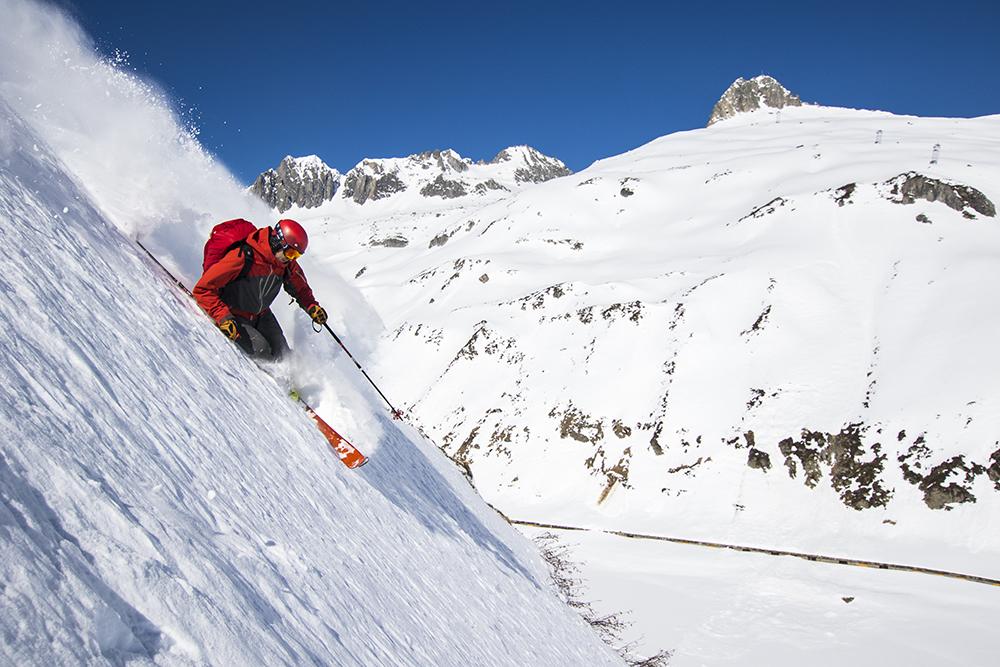 John Trousdale atop Oberalpass
