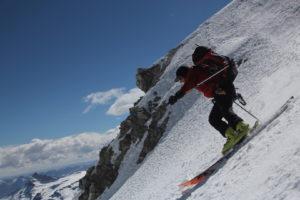 Mike Marolt's first turns off Summit Ampato. Credit Steve Marolt