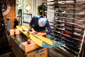In the center of town next to Ski Lodge Engelberg lays another staple within the community, Okay Ski Shop. It's the local gathering place for backcountry freeriders.
